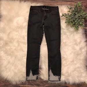 MOTHER The Looker Distressed Skinny Leg Jeans
